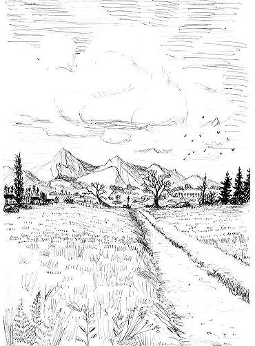 Sur le chemin de la vie - Dessiner un paysage ...